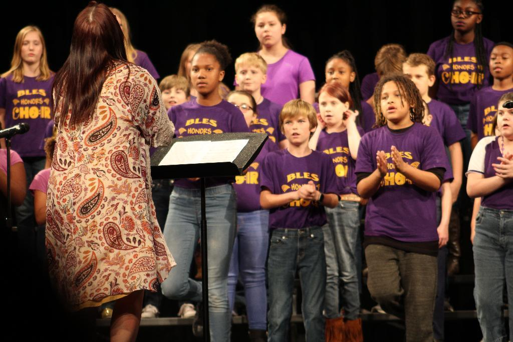 Honor's Choir performance