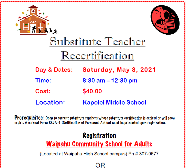 Substitute Teacher Training Course: May Featured Photo