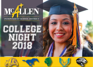 picture of female graduate with college night flyer
