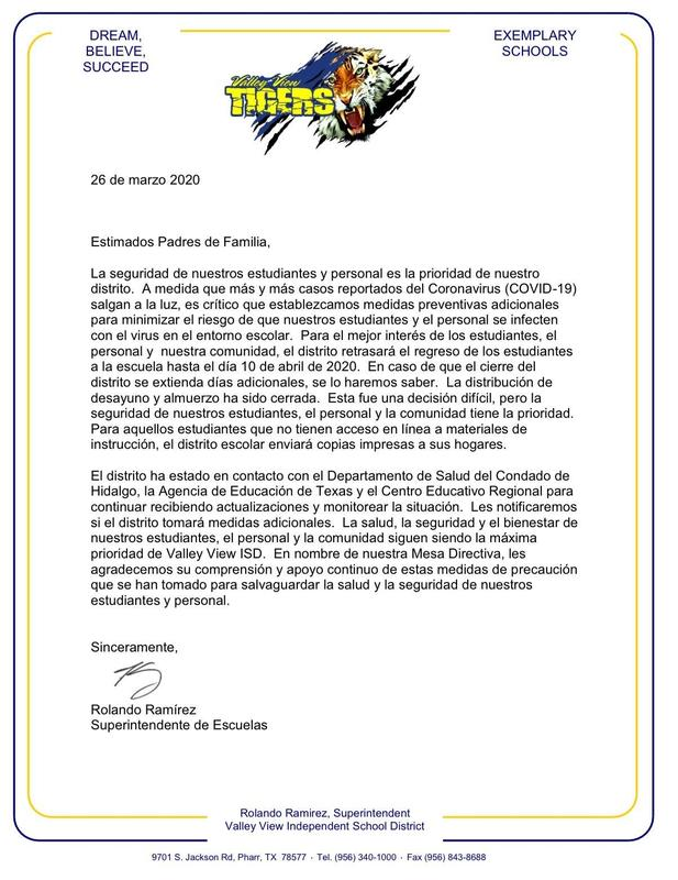 Spanish Letter to Parents 3-26-20.JPG