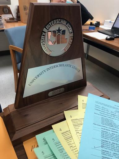 UIL Sweepstakes Trophy