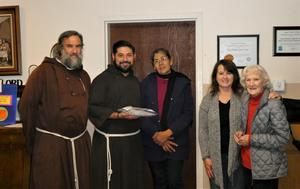 Fr. David, Fr. Javier, Marie, Jackie and Marge.JPG