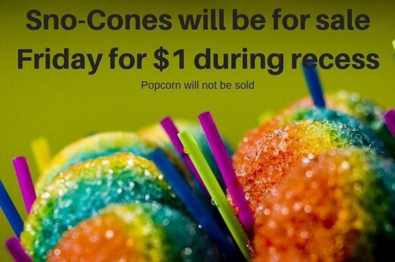 Sno-Cone Friday