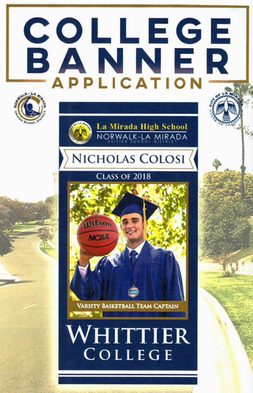 Attention Seniors - Now Accepting College Banner Applications Featured Photo