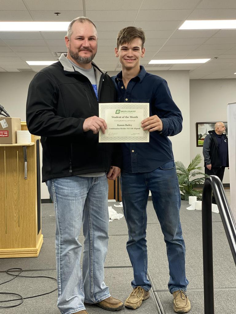 Welding Student of the Month