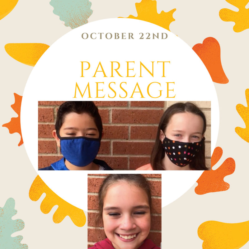 SCIS Parent Message: October 22nd, 2020 Featured Photo