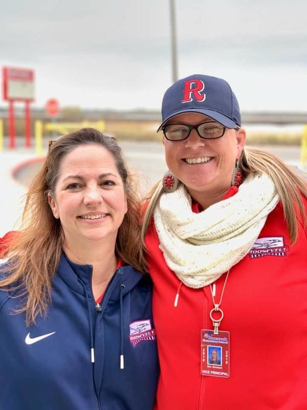 Photo of Mrs. Fleming (left) and Mrs. Woodard (right)