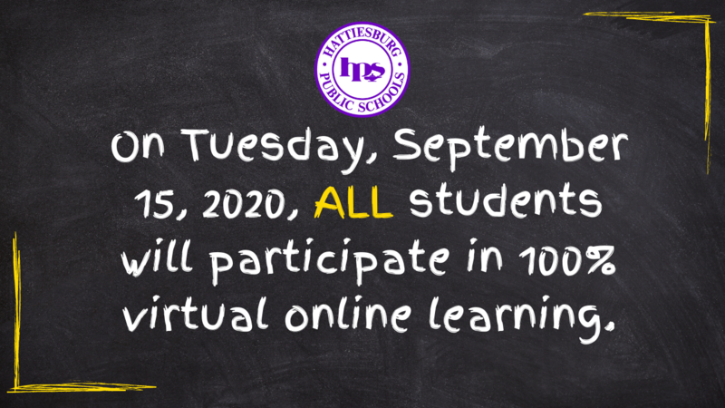 All students will participate in 100% Virtual online learning on September 15, 2020 Featured Photo