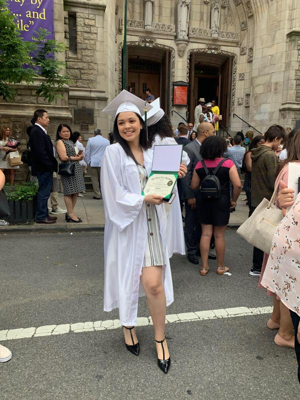 Nicole, CMS '15, graduates from St. Vincent Ferrer High School