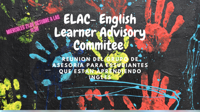 ELAC meeting Wednesday October 21st  11:30am Featured Photo