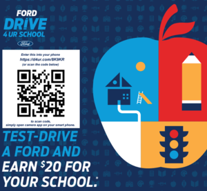 Drive for your school event graphic.