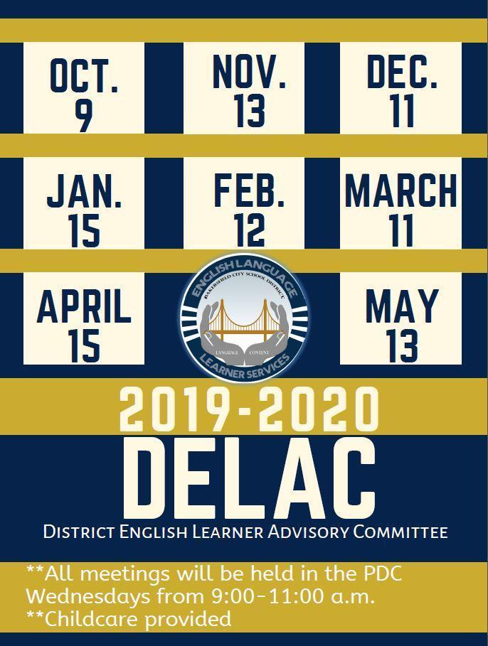 DELAC Dates