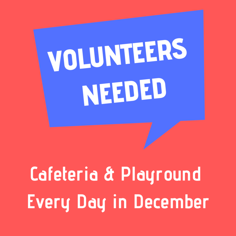 Volunteers Needed Every Day in December!! Featured Photo