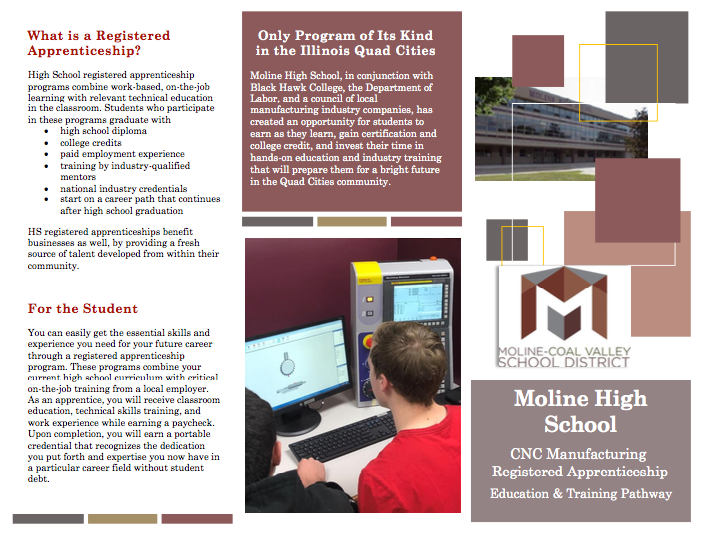 Moline High School CNC Manufacturing Registered Apprenticeship Featured Photo