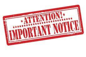 Attention Important Notice