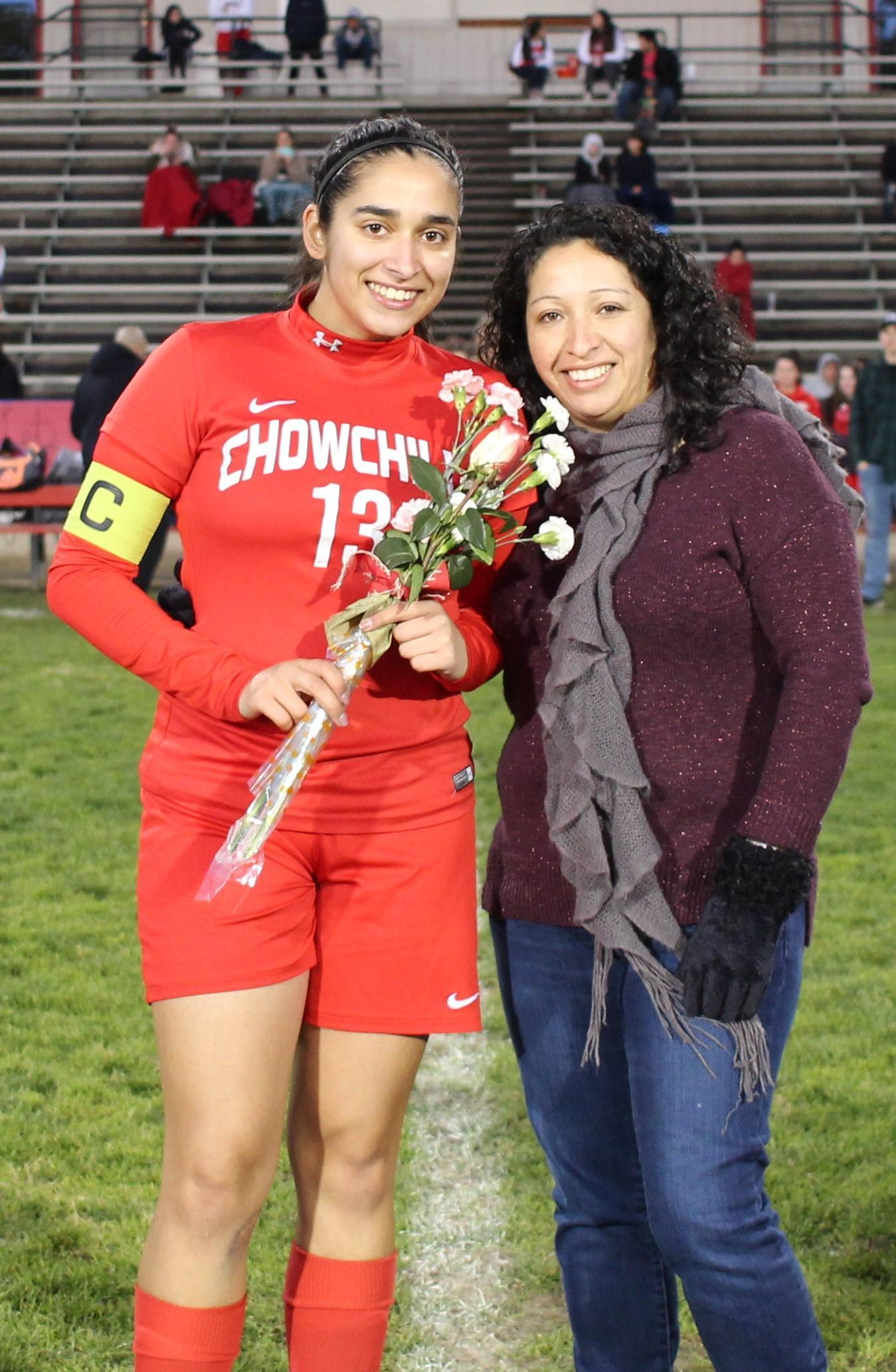 Allie Suarez at soccer senior night