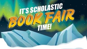 It's Scholastic Book Fair Time photo with icy mountains