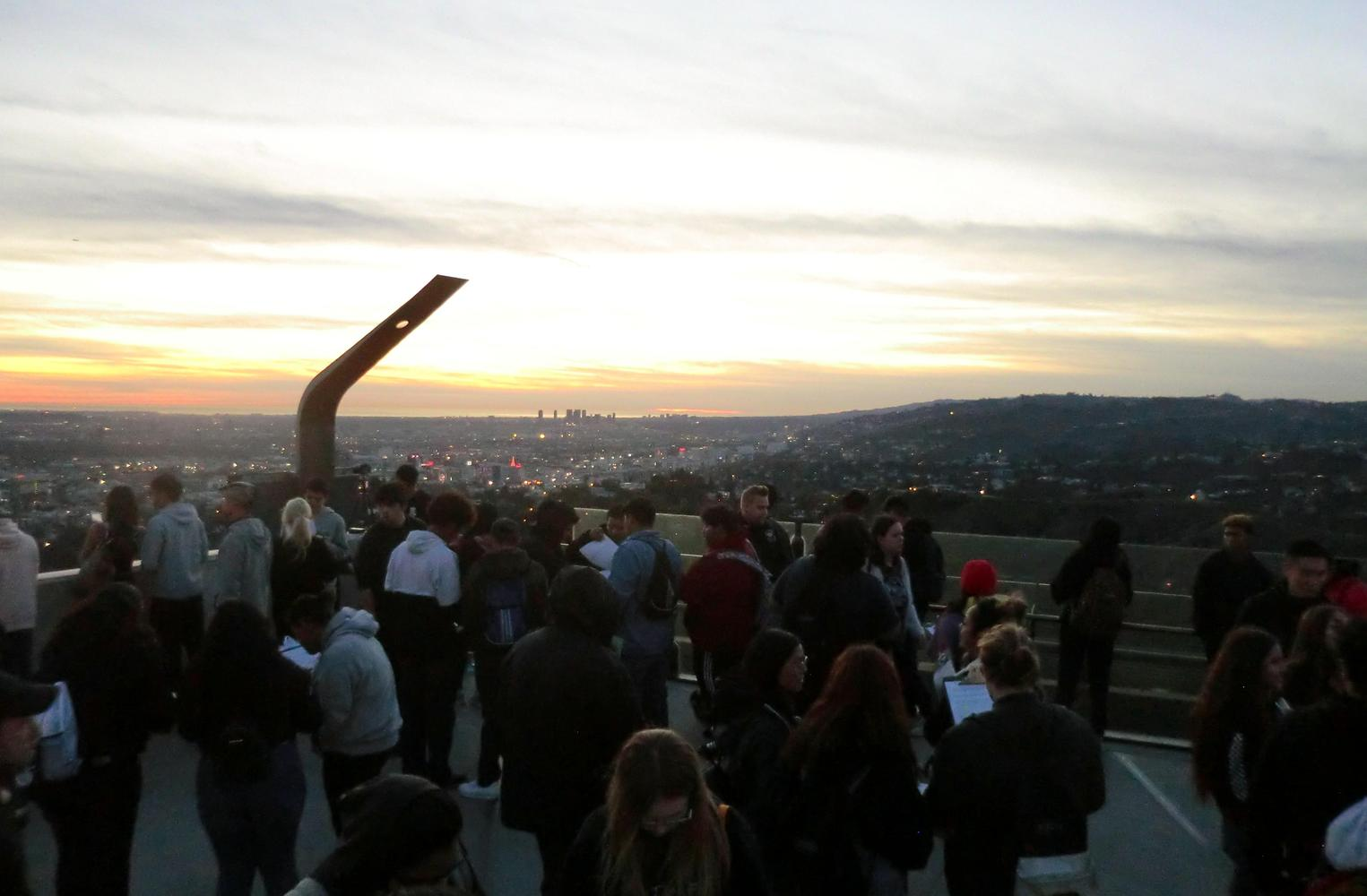 Sunset at Griffith Observatory