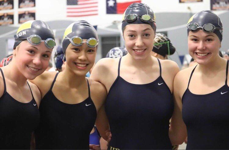 Lady Scots swim team
