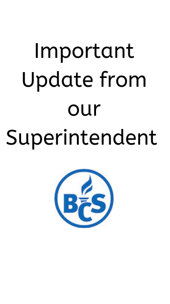 update from our superintendent logo