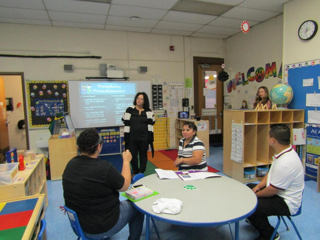 Parent asking teacher a question