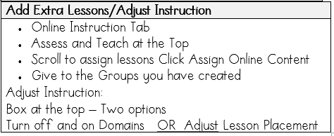 Adjust Instruction