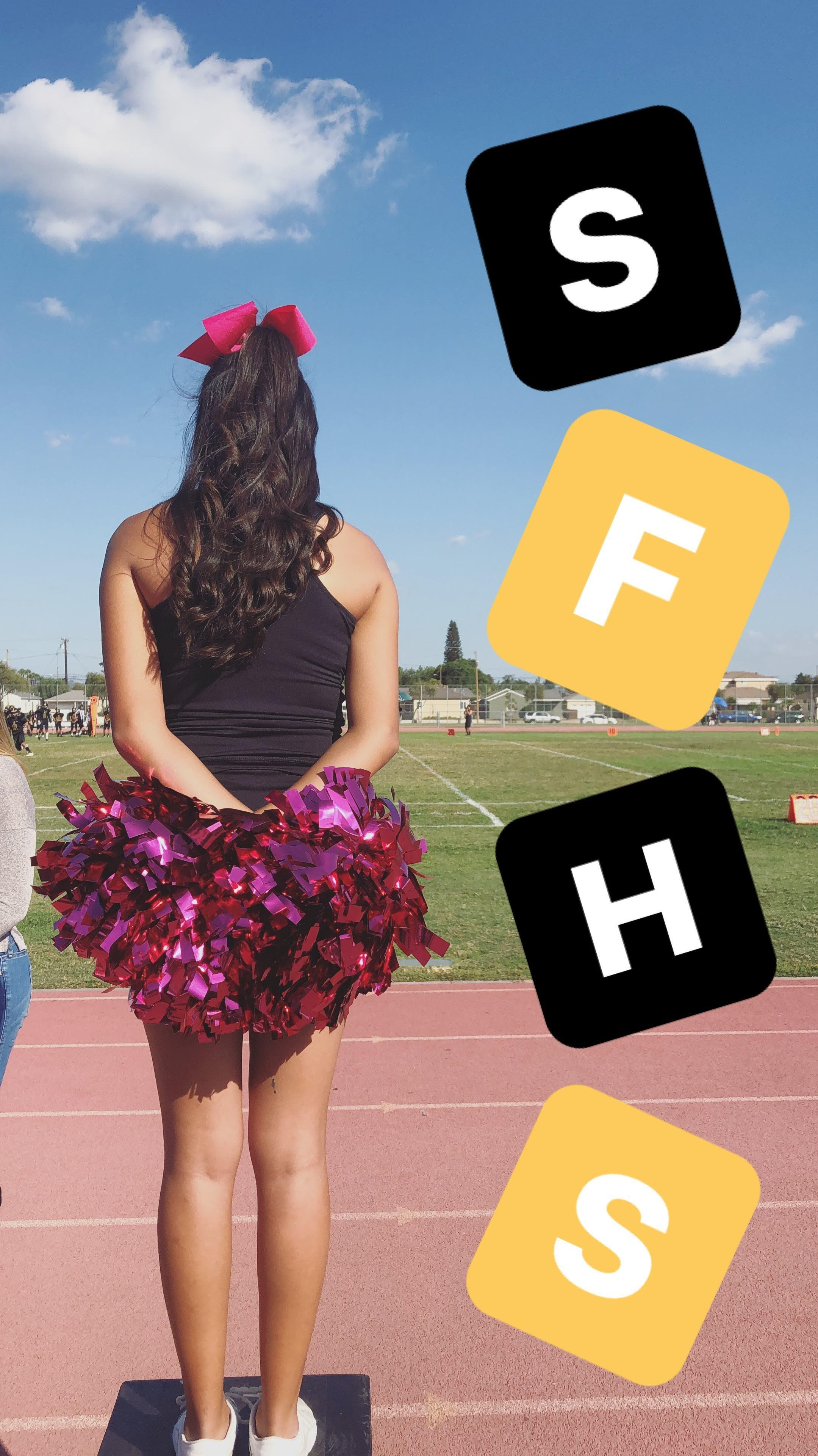jv cheerleader at game