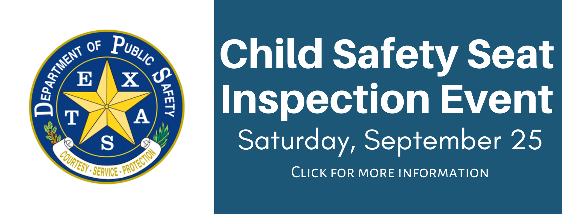 TXDPS Child Safety Seat Event