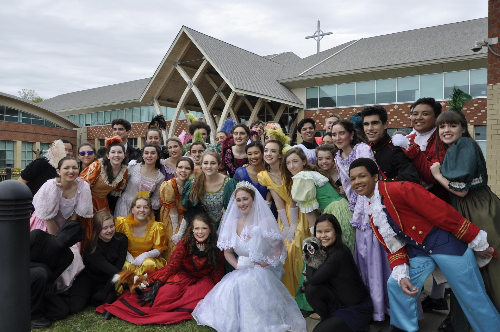 The cast of the Glass Slipper