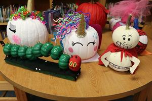 Image of decorated pumpkins 2018