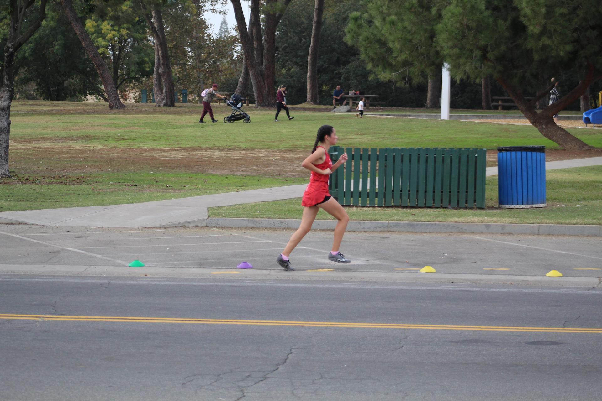 Lizeth Solorzano finishing