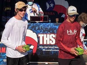 Aaden Thomas and Josh Gideon CHS Bass fishing