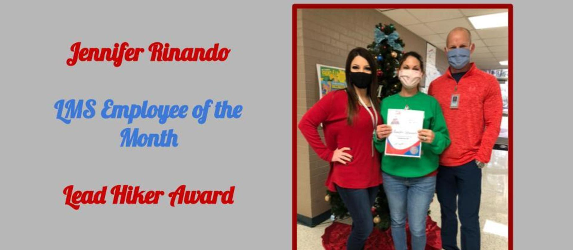 Employee of the Month Jennifer Rinando