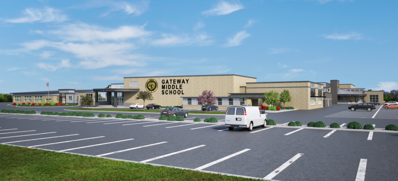 Gateway Middle School Rendering