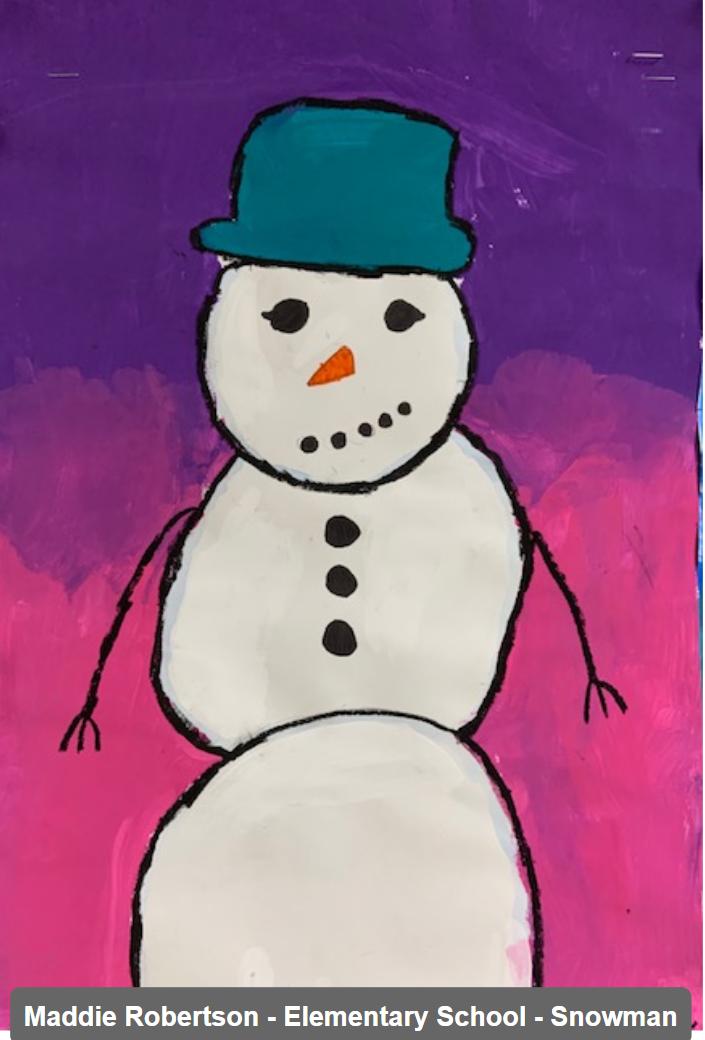 Maddie Robertson - Elementary School - Snowman