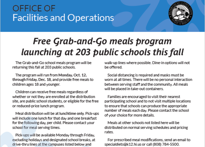 Grab-andGo Meals Program
