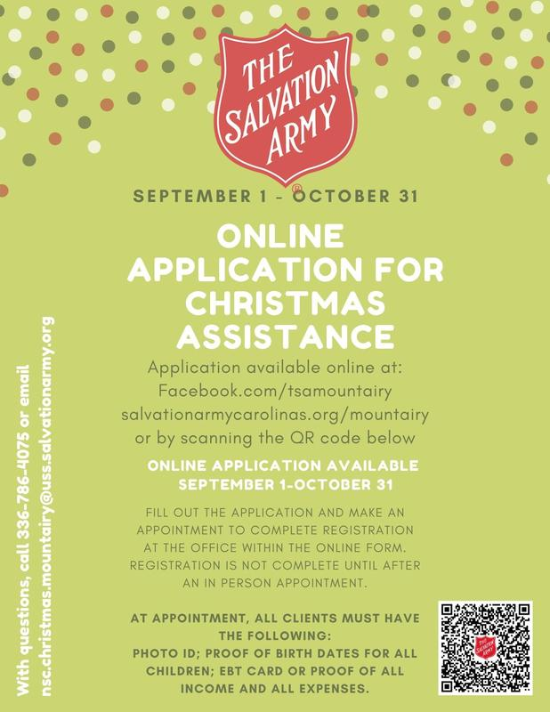 Salvation Army Christmas Assistance Application