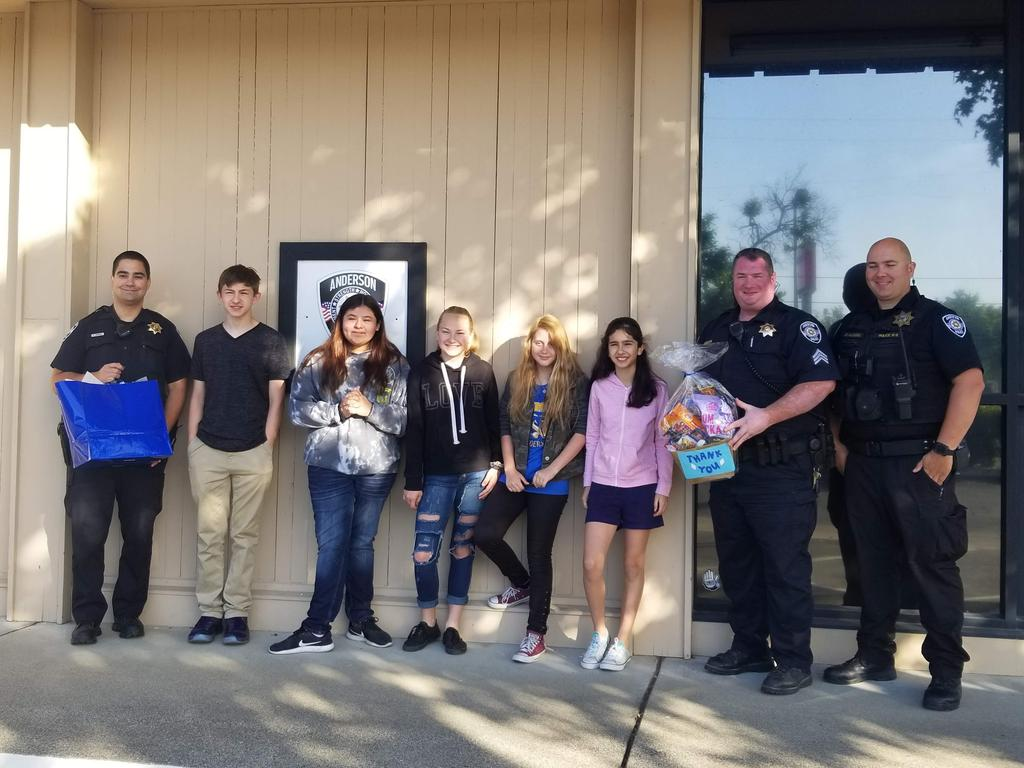 Students bring gifts to APD