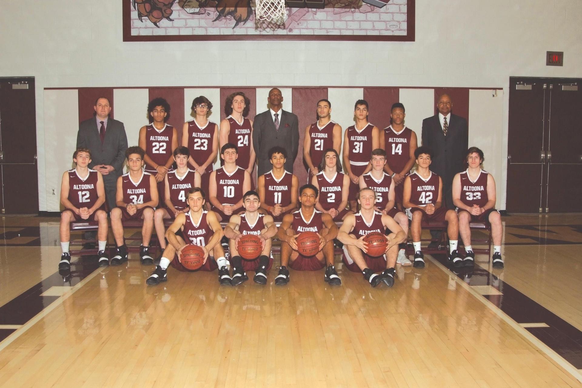 2018 Boys Basketball Team