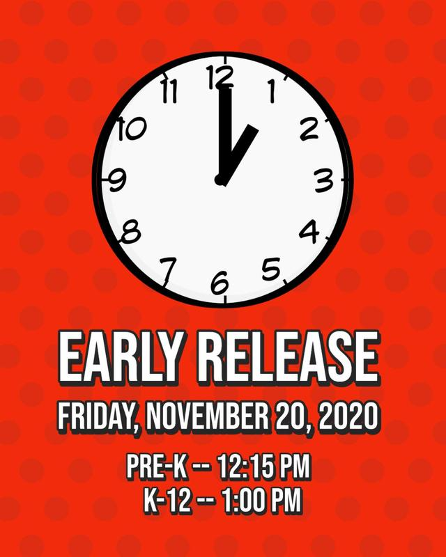 Early Release for Friday 11/20/2020 Featured Photo