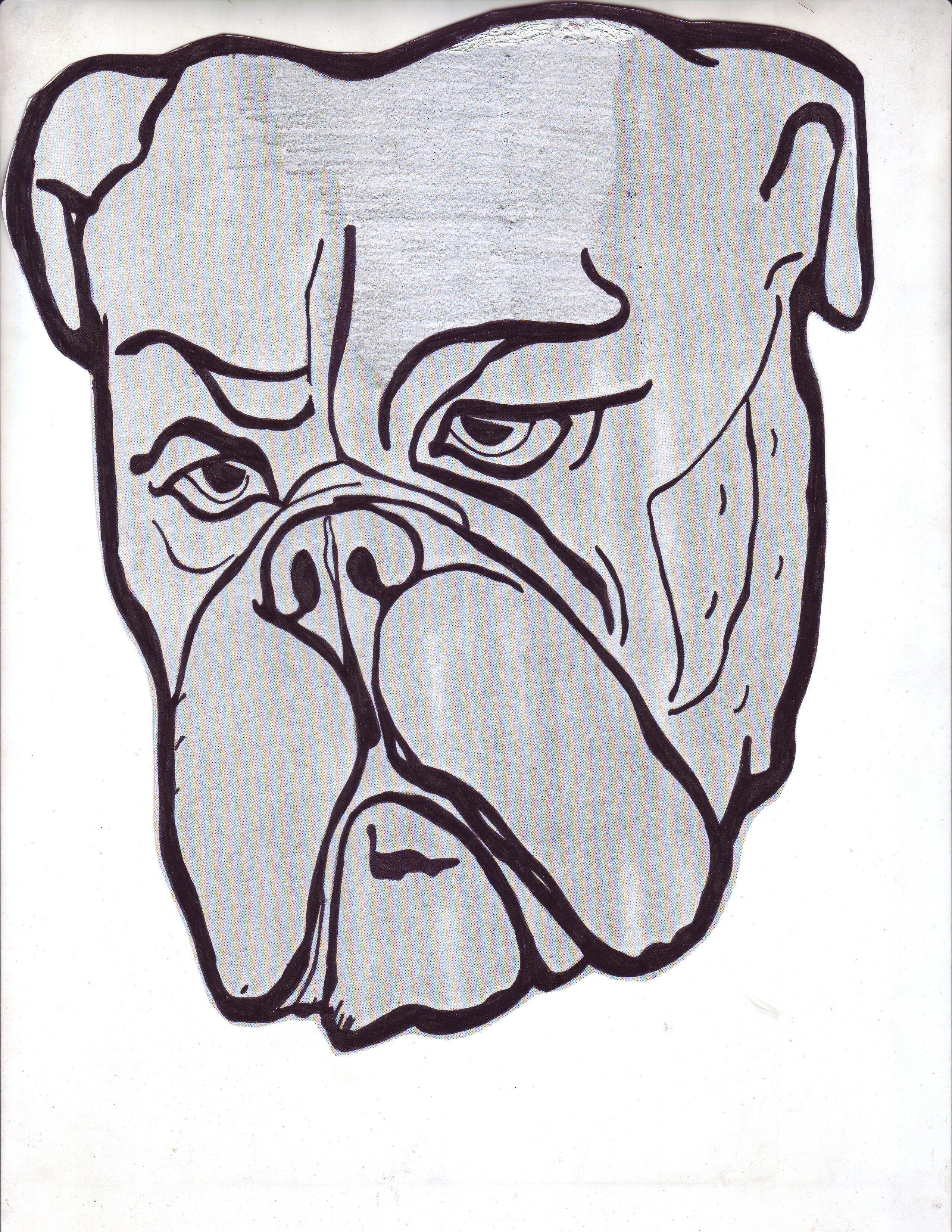 The first drawing of a bulldog: Pepper Eichler