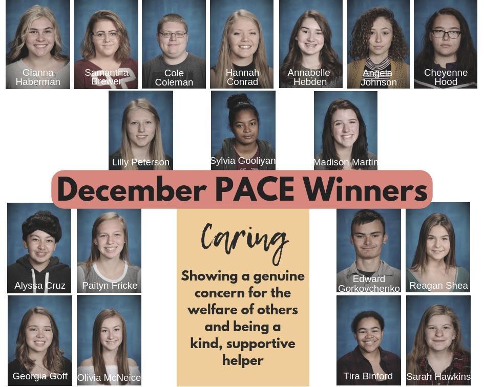 December PACE Winners