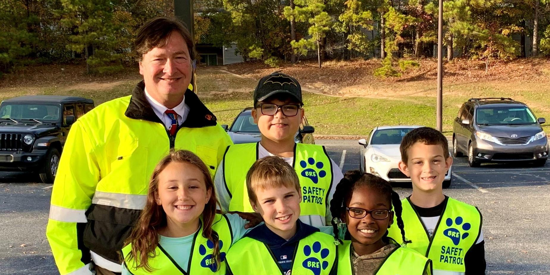 Our 2nd Nine Weeks Safety Patrol with Mr. Bowles!