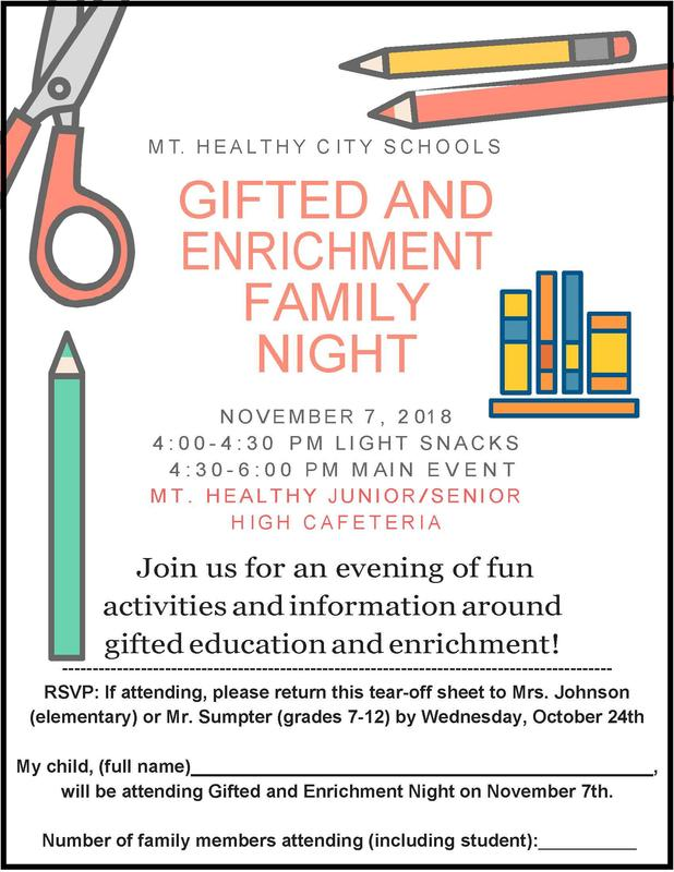Mt. Healthy Gifted and Enrichment Night Featured Photo