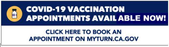 Vaccination Appointments Available Now!