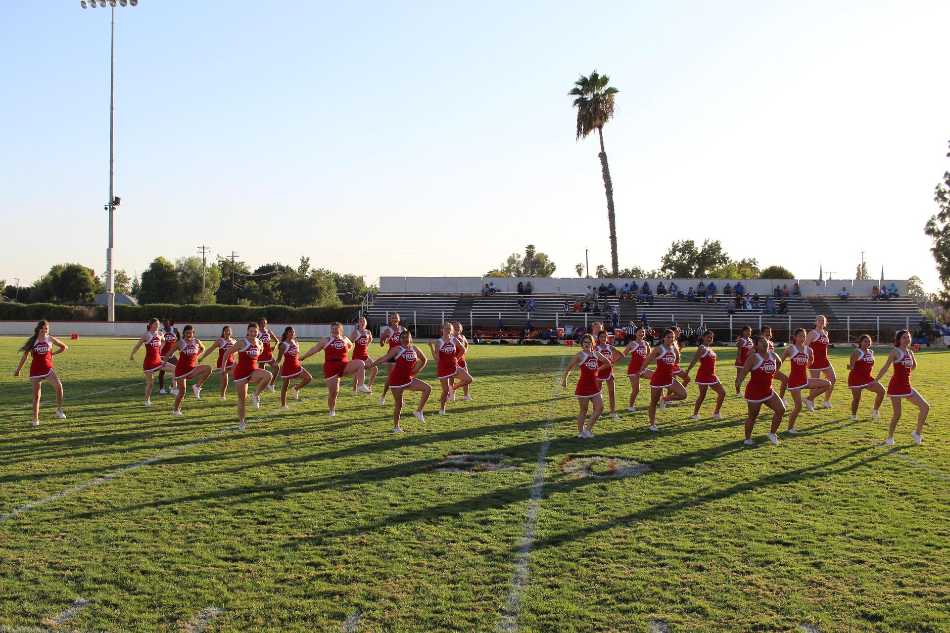 Junior Varsity performing at Halftime