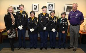 JROTC members from B-L High School had the honor of presenting the colors at the State Board of Education meeting in Columbia on Tuesday, March 12th.