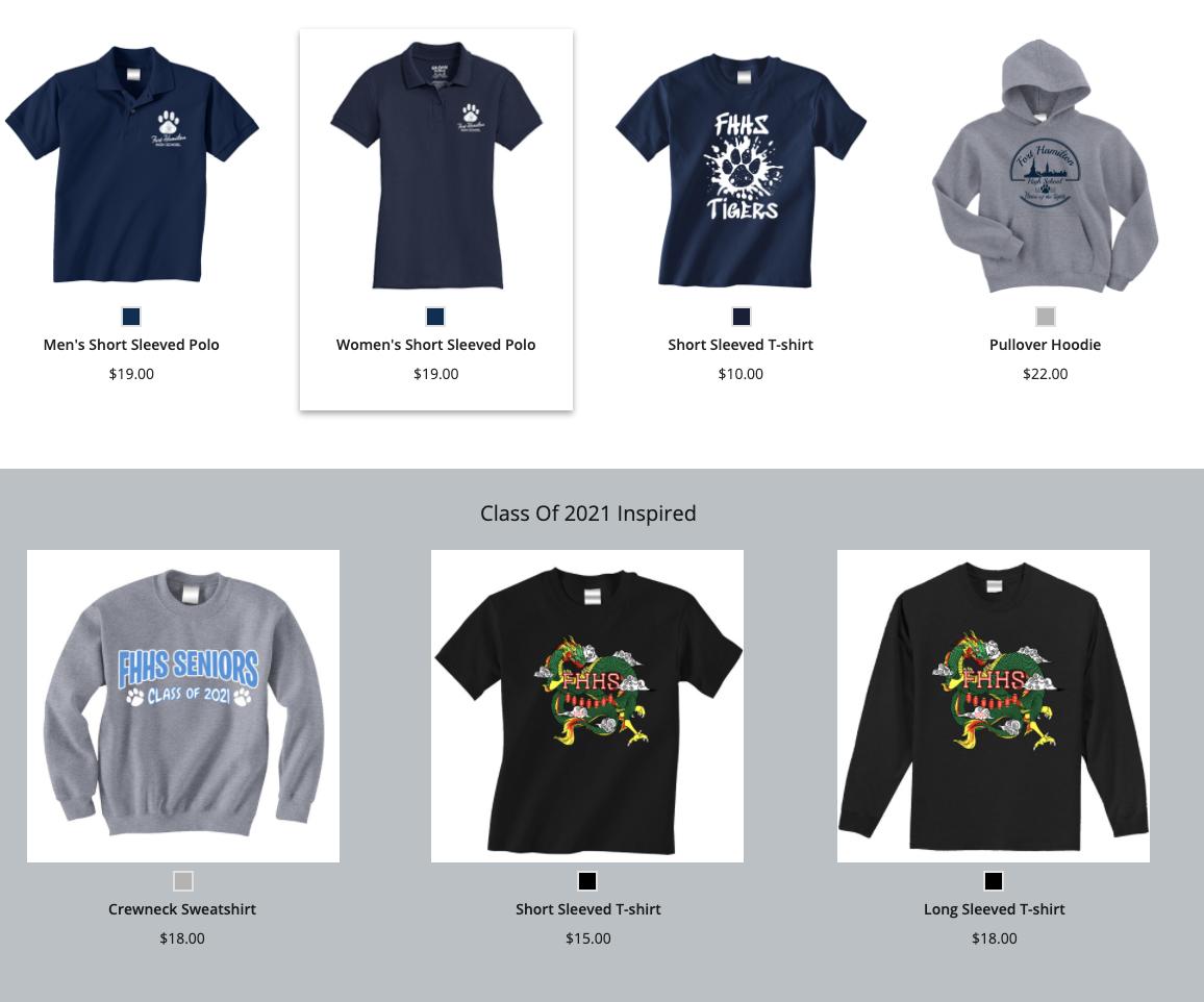 FHHS 2021 School Spirit Shirt Designs