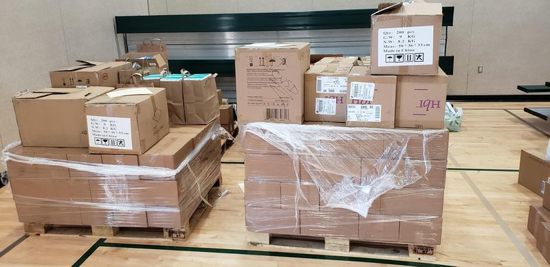 Pallets of PPE