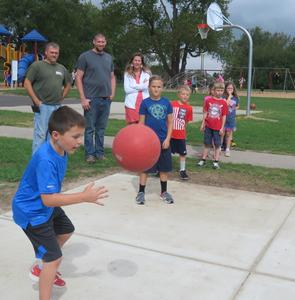 Lee students love their new four-square courts.